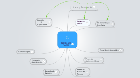 Mind Map: TEORIA DO FLUXO