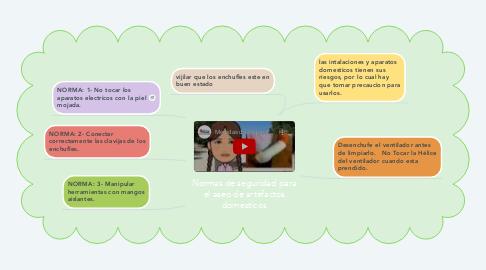 Mind Map: Normas de seguridad para el aseo de artefactos domesticos