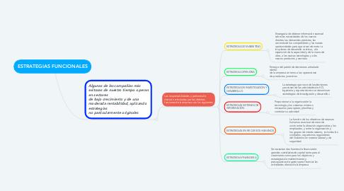 Mind Map: ESTRATEGIAS FUNCIONALES