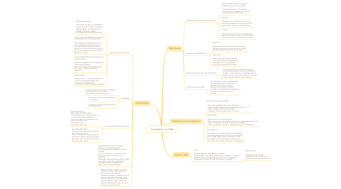 Mind Map: Introduction to TAM