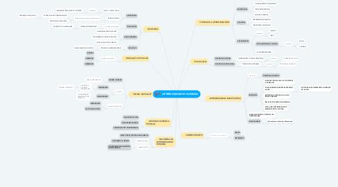 Mind Map: APRENDIZAGEM HUMANA