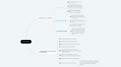 Mind Map: AUDITORIA