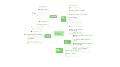 Mind Map: DE LOS DERECHOS, LAS GARANTÍAS Y LOS DERECHOS