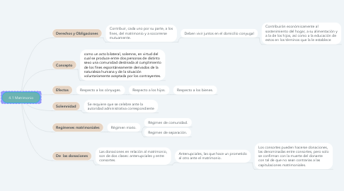 Mind Map: 4.1 Matrimonio