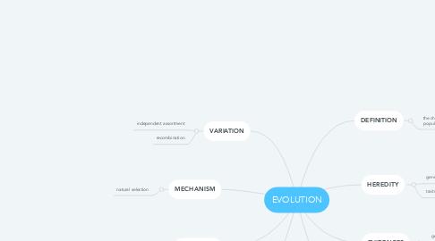 Mind Map: EVOLUTION