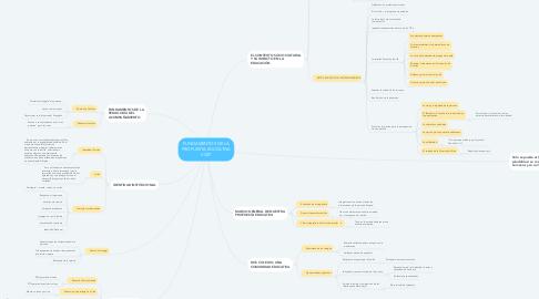 Mind Map: FUNDAMENTOS DE LA PROPUESTA EDUCATIVA VCSP