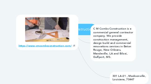 Mind Map: C M Combs Construction