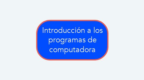 Mind Map: Introducción a los programas de computadora