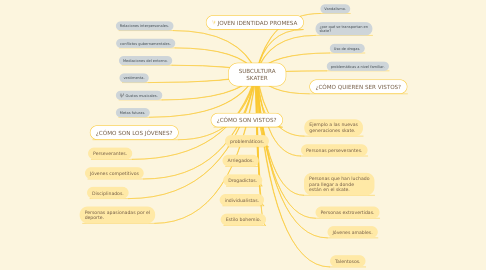Mind Map: SUBCULTURA SKATER