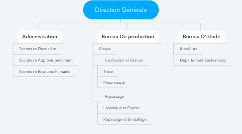 Mind Map: Direction Génèrale