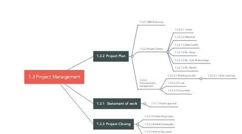 Mind Map: 1.3 Project Management