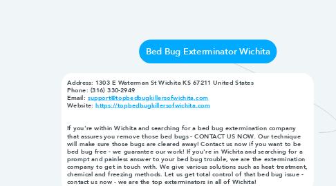 Mind Map: Bed Bug Exterminator Wichita