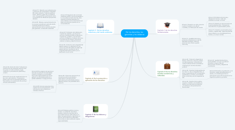 Mind Map: De los derechos, las garantías y los deberes