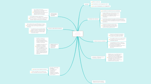 Mind Map: ESTADOS FINANCIEROS CONSOLIDADOS Y SEPARADOS