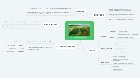 Mind Map: LA DEFORESTACIÓN