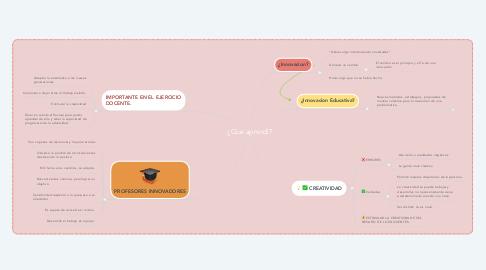 Mind Map: ¿Que aprendí?