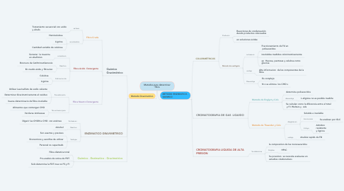 Mind Map: Metodos para determinar fibra