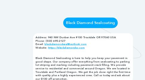 Mind Map: Black Diamond Sealcoating