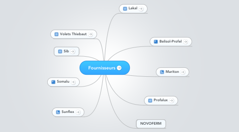 Mind Map: Fournisseurs