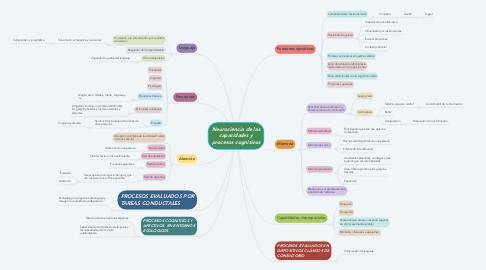 Mind Map: Neurociencia de las capacidades y procesos cognitivos