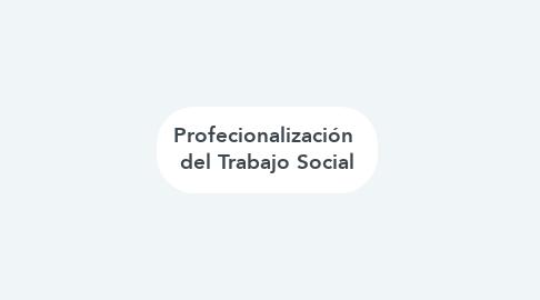 Mind Map: Profecionalización  del Trabajo Social