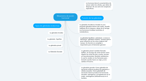Mind Map: Mecanismo de acción hormonal