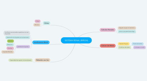 Mind Map: SISTEMA RENAL (RIÑON)