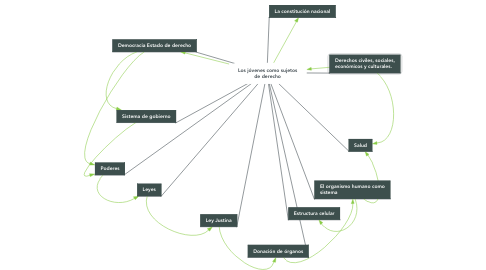 Mind Map: Los jóvenes como sujetos de derecho