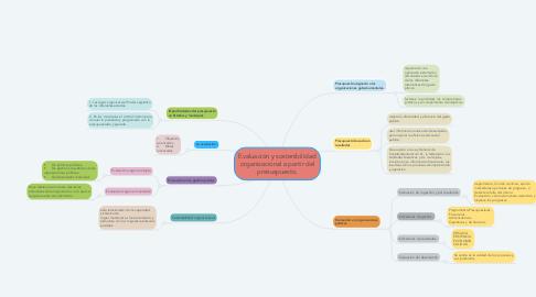Mind Map: Evaluación y sostenibilidad organizacional a partir del presuspuesto.