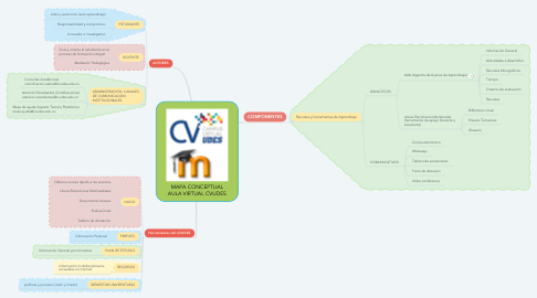 Mind Map: MAPA CONCEPTUAL AULA VIRTUAL CVUDES