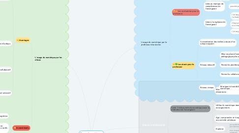 Mind Map: L'usage du numérique en classe