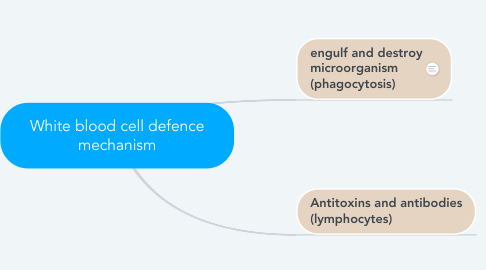 Mind Map: White blood cell defence mechanism