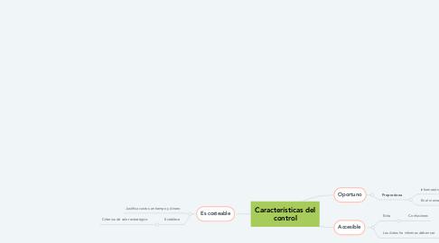 Mind Map: Características del control