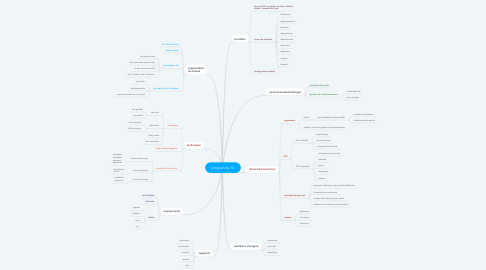 Mind Map: programme TS