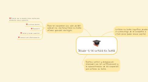 Mind Map: Decidir si se cotiza en bolsa