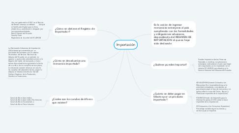 Mind Map: Importación