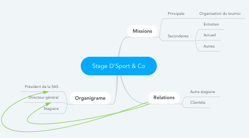 Mind Map: Stage D'Sport & Co