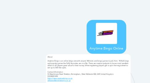 Mind Map: Anytime Bingo Online