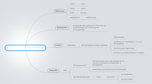 Mind Map: Anterolaterale Ankle-Impingement