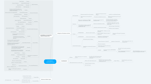 Mind Map: BUSSINESS ORGANISATIONS