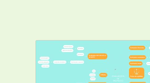 Mind Map: EVALUACION DE PROYECTO