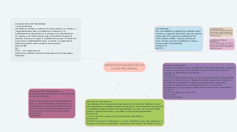 Mind Map: PRINCIPIOS FINALISTAS DE LOS ACTOS PROCESALES: