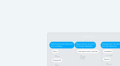 Mind Map: Gerente General