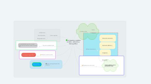 Mind Map: principales variables sociales, culturales y demográficas