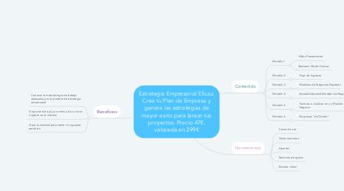 Mind Map: Estrategia Empresarial Eficaz. Crea tu Plan de Empresa y genera las estrategias de mayor exito para lanzar tus proyectos. Precio 47€, valorada en 299€