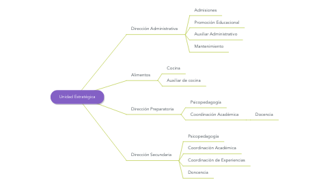 Mind Map: Unidad Estratégica