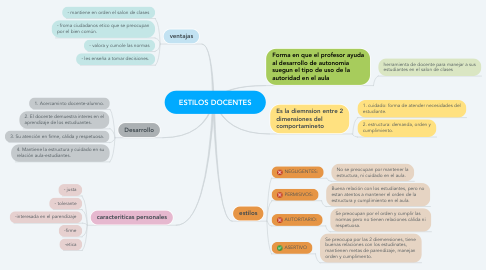 Mind Map: ESTILOS DOCENTES
