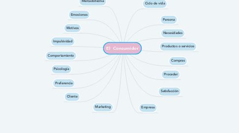 Mind Map: El  Consumidor