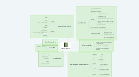 Mind Map: PROGRAMACIÓ