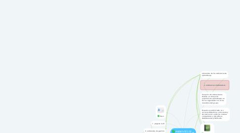 Mind Map: AMBIENTES DE APRENDIZAJES